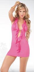 Pink Open Front Dress