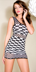 Checkered Mini Dress