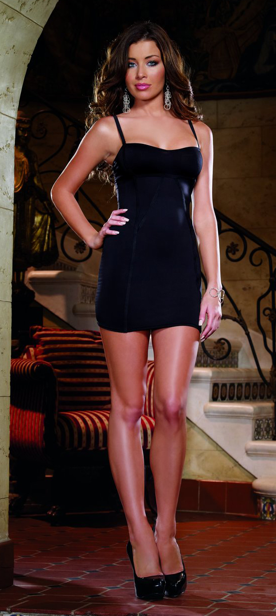 Black cocktail dress by Dreamgirl DG-8067.