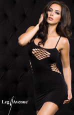 Diamond Fishnet Mini Skirt Dress