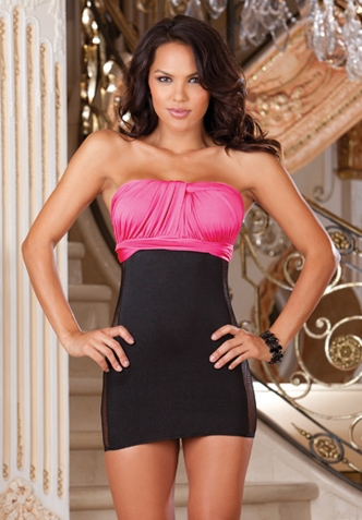 No shoulder straps versatile mini dress.