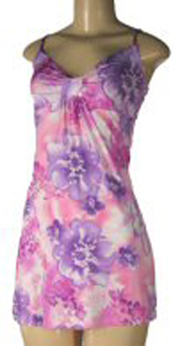 Purple and pink floral sun dress.