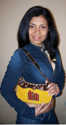 Yellow Purse from Peru.